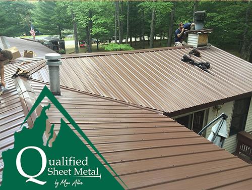 Metal Roof Installation In Traverse City Mi Sheet Metal Roofs